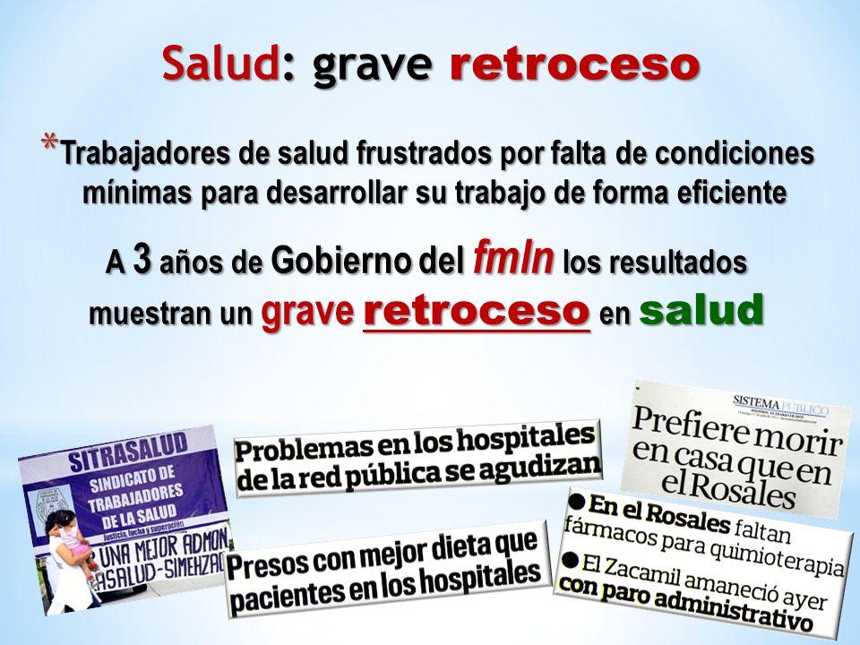 * Trabajadores de salud frustrados por falta de condiciones mínimas para desarrollar su trabajo de forma eficiente A 3 años de Gobierno del fmln los r