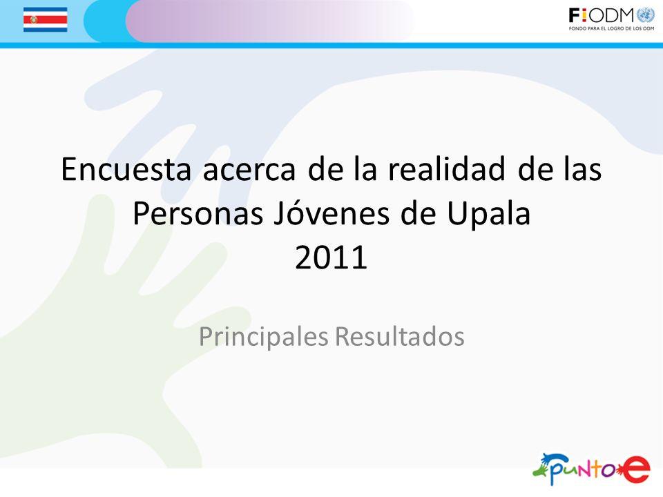 Encuesta acerca de la realidad de las Personas Jóvenes de Upala 2011 Principales Resultados