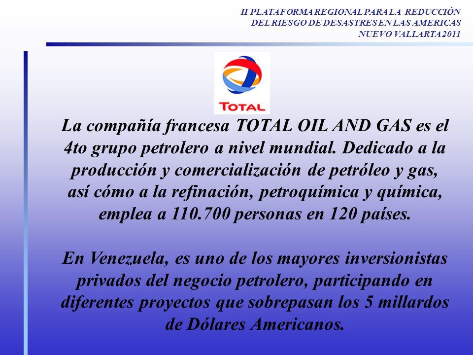 La compañía francesa TOTAL OIL AND GAS es el 4to grupo petrolero a nivel mundial. Dedicado a la producción y comercialización de petróleo y gas, así c