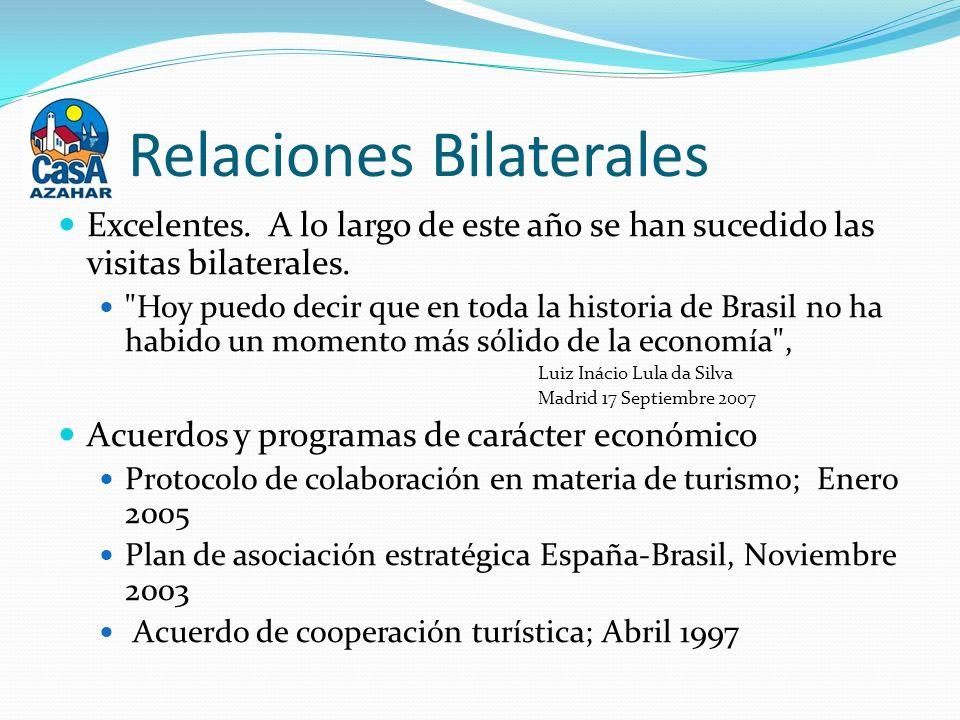 Relaciones Bilaterales Excelentes. A lo largo de este año se han sucedido las visitas bilaterales.