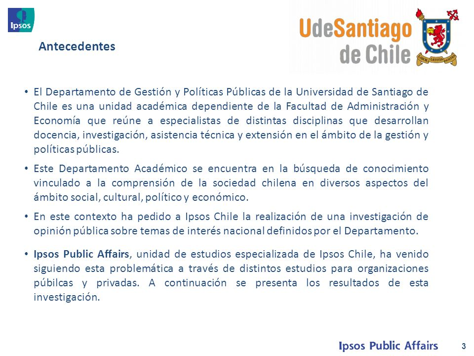 El Departamento de Gestión y Políticas Públicas de la Universidad de Santiago de Chile es una unidad académica dependiente de la Facultad de Administración y Economía que reúne a especialistas de distintas disciplinas que desarrollan docencia, investigación, asistencia técnica y extensión en el ámbito de la gestión y políticas públicas.