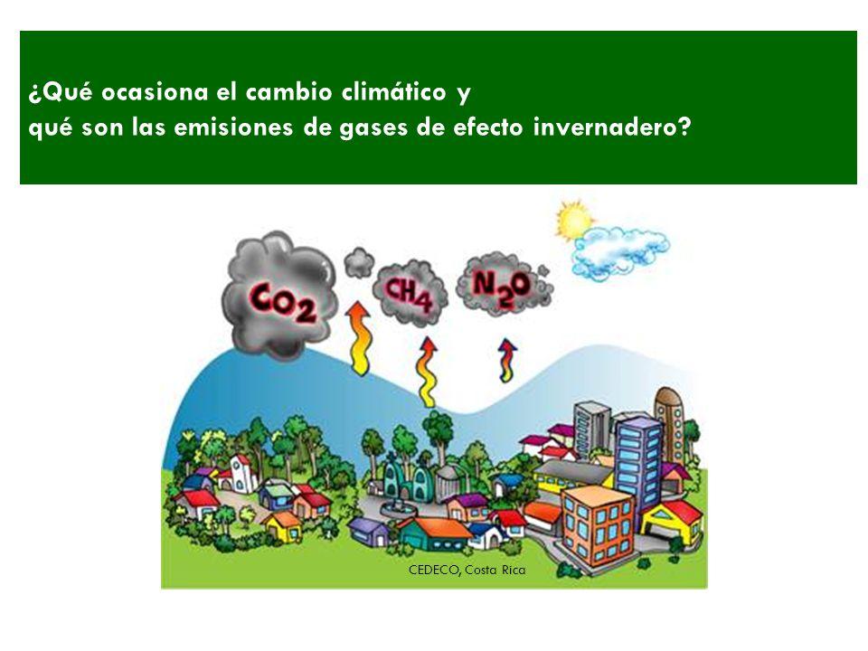 ¿Qué ocasiona el cambio climático y qué son las emisiones de gases de efecto invernadero.