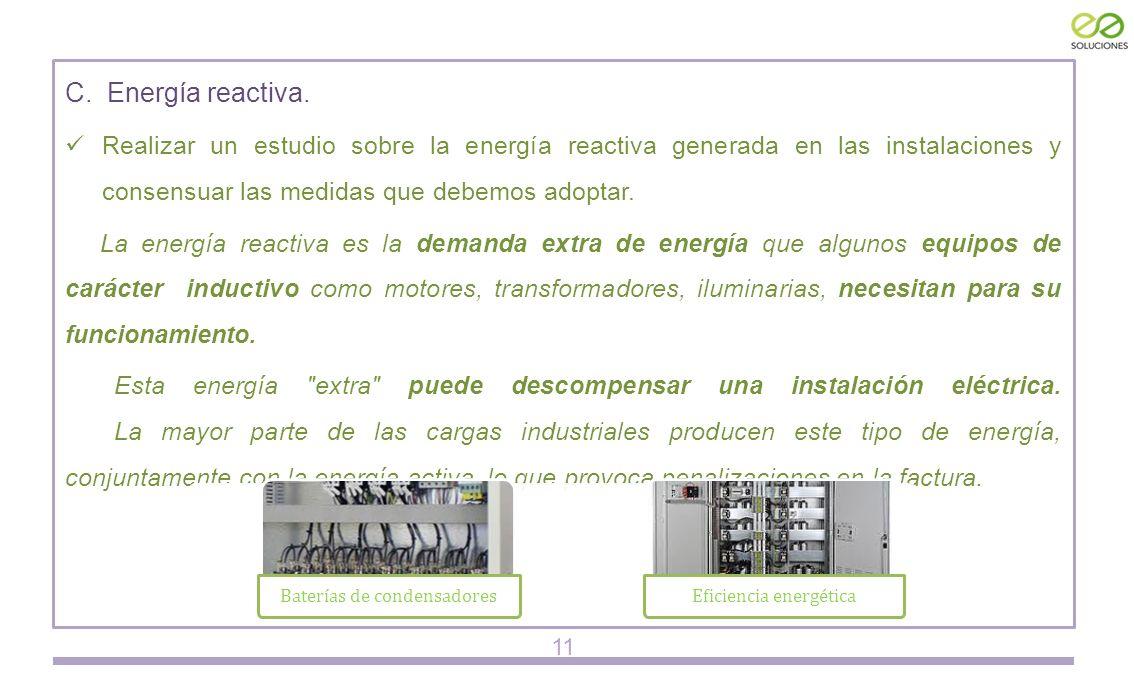 C. Energía reactiva.