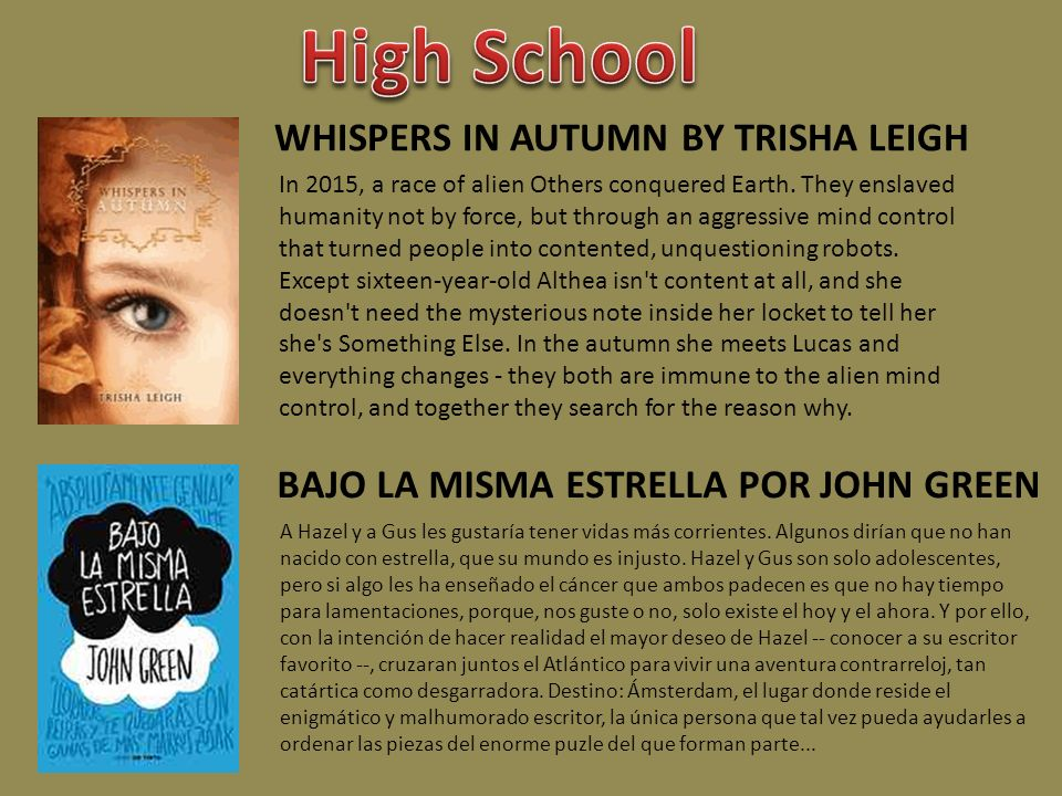 WHISPERS IN AUTUMN BY TRISHA LEIGH In 2015, a race of alien Others conquered Earth. They enslaved humanity not by force, but through an aggressive min