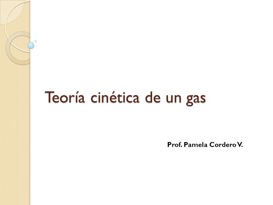 Teoría cinética de un gas Prof. Pamela Cordero V.