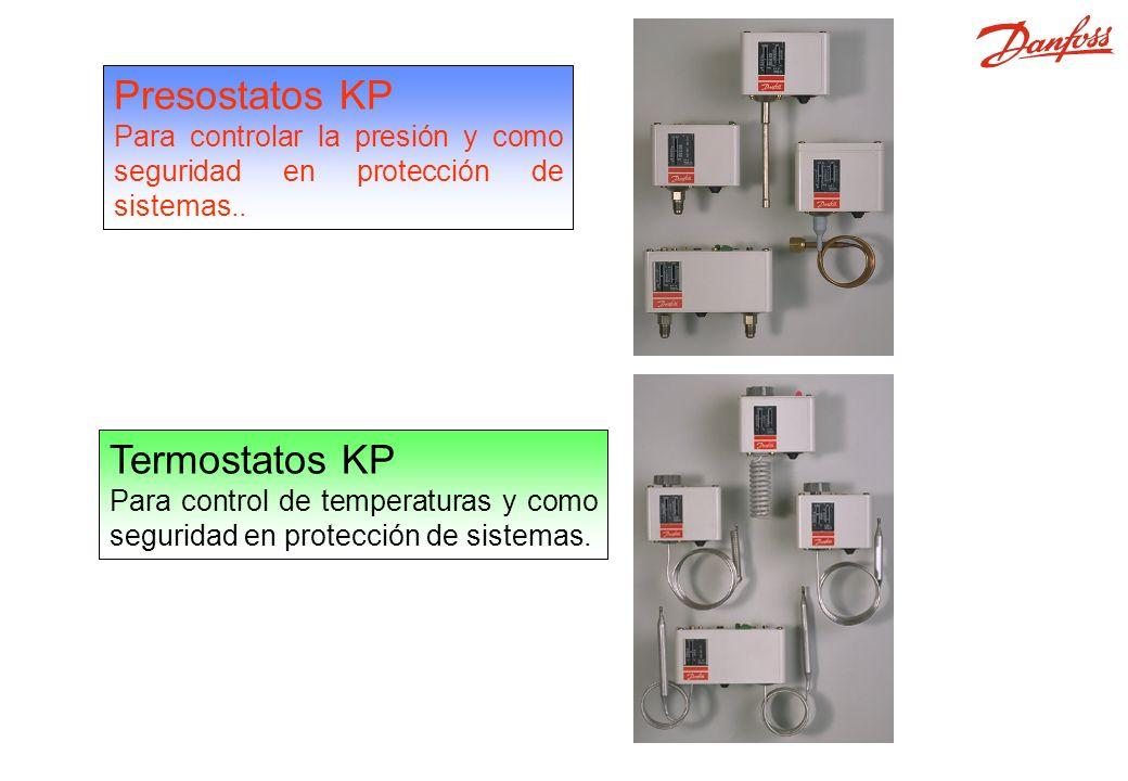 Presostatos, Termostaos Presostatos KP Para controlar la presión y como seguridad en protección de sistemas..