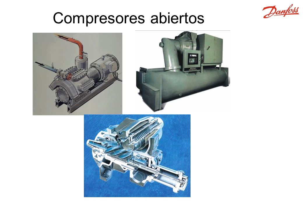 Enfriado con agua Enfriado con aire Evaporativo El condensador es un intercambiador de calor donde el calor del evaporador y compresor se elimina del sistema de refrigeración.