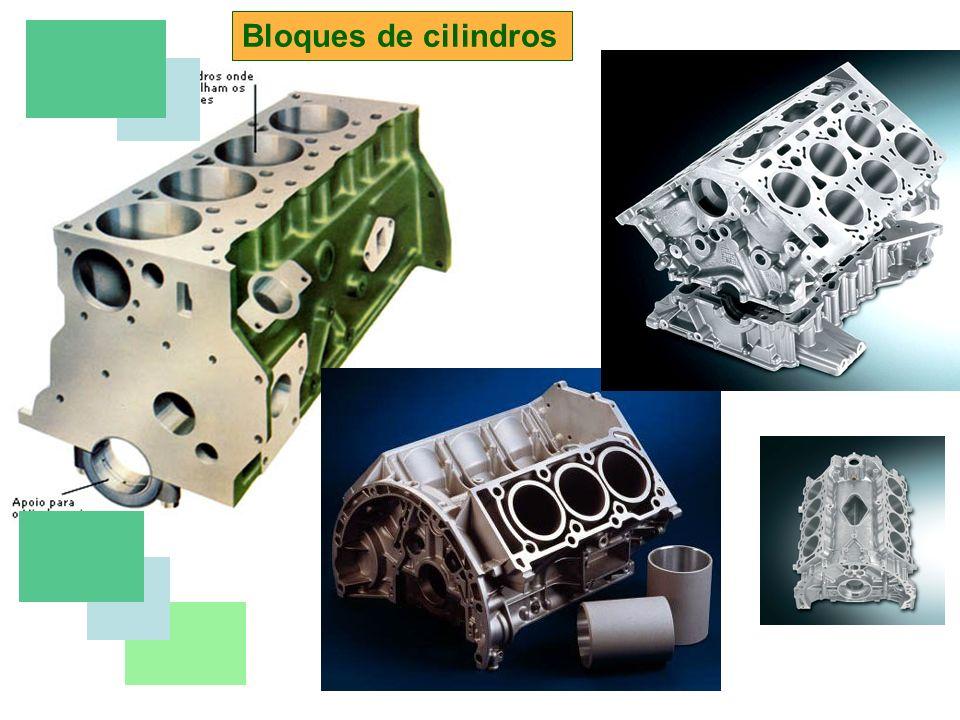 Elementos del motor Culata Cubre el bloque de cilindros (al que va unido mediante tornillos o pernos) por la parte superior, y contiene los conductos por los que entran y salen los gases al motor, las canalizaciones para la circulación de los líquidos refrigerante y lubricante, y además alojan el mecanismo de la distribución.