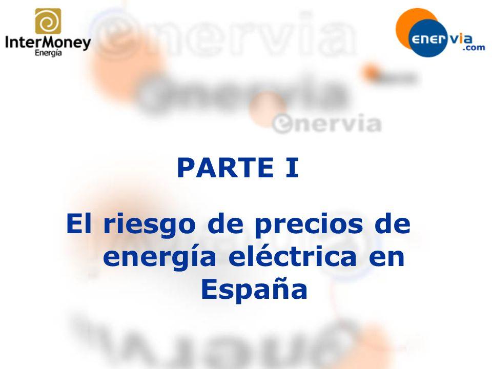 PARTE I El riesgo de precios de energía eléctrica en España