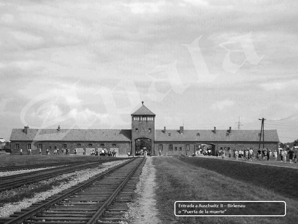 Entrada a Auschwitz II – Birkenau o Puerta de la muerte