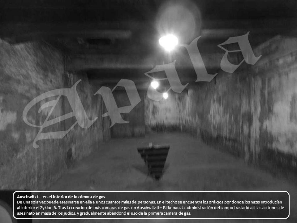 Chimenea de la camara de gas de Auschwitz I