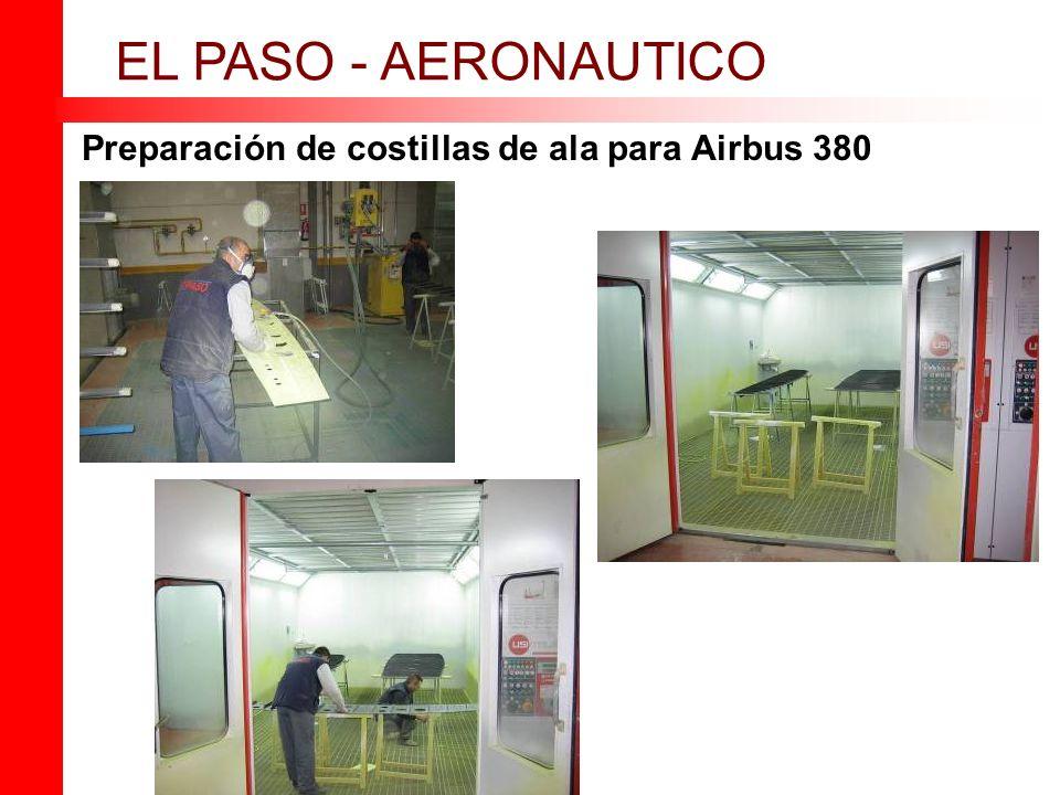 Preparación de costillas de ala para Airbus 380 EL PASO - AERONAUTICO
