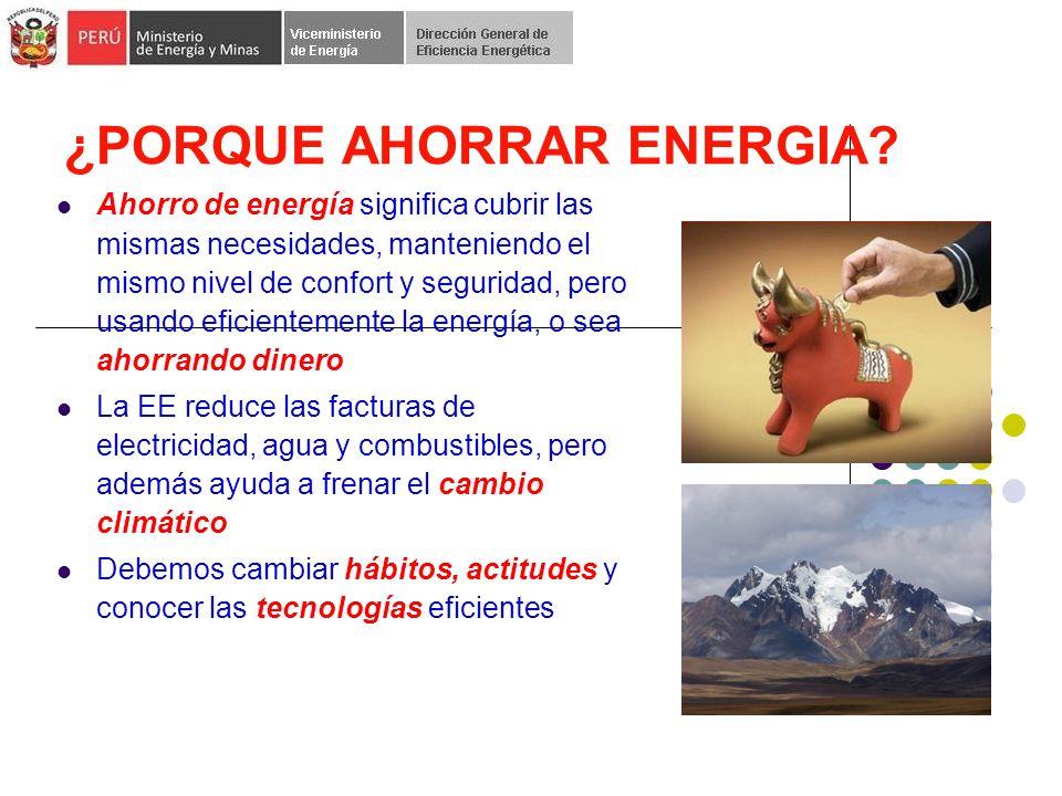 ¿PORQUE AHORRAR ENERGIA.