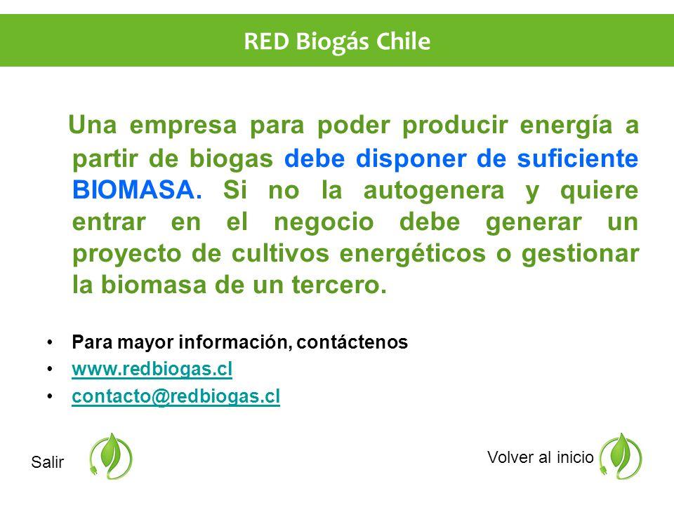 Una empresa para poder producir energía a partir de biogas debe disponer de suficiente BIOMASA.