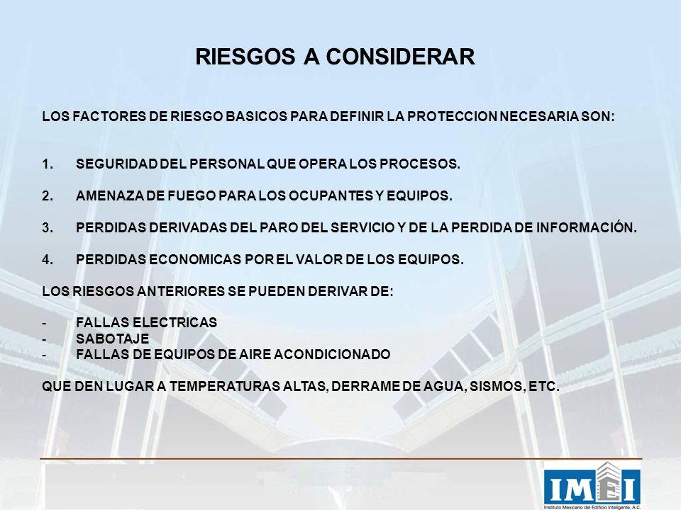 RIESGOS A CONSIDERAR LOS FACTORES DE RIESGO BASICOS PARA DEFINIR LA PROTECCION NECESARIA SON: 1.SEGURIDAD DEL PERSONAL QUE OPERA LOS PROCESOS. 2.AMENA