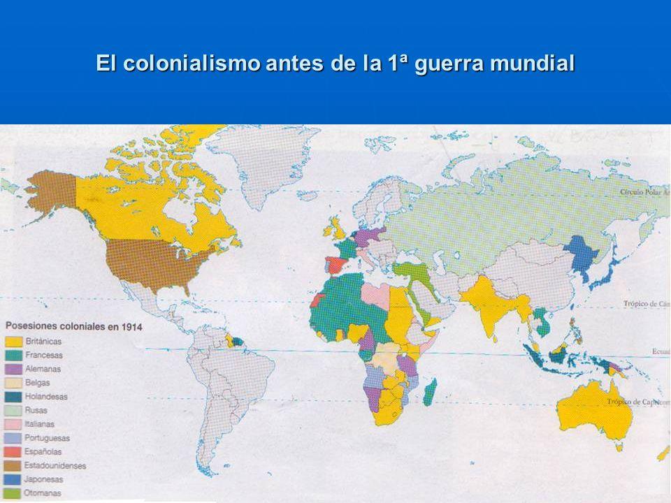 El colonialismo antes de la 1ª guerra mundial