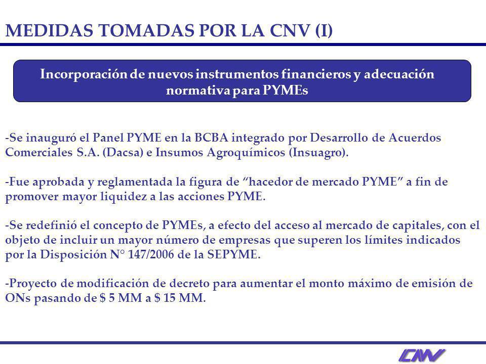 -Se inauguró el Panel PYME en la BCBA integrado por Desarrollo de Acuerdos Comerciales S.A. (Dacsa) e Insumos Agroquímicos (Insuagro). -Fue aprobada y