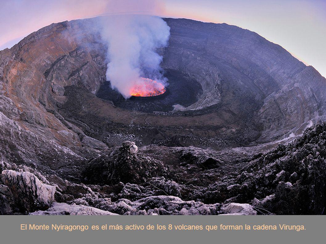 El Monte Nyiragongo es el más activo de los 8 volcanes que forman la cadena Virunga.