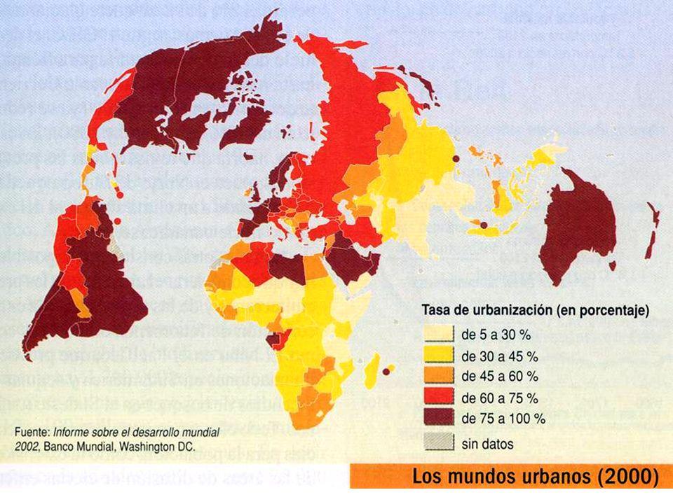 Durante los últimos años, la ubicación de las ciudades más pobladas del mundo ha pasado de los países industrializados a los países en vías de desarrollo.