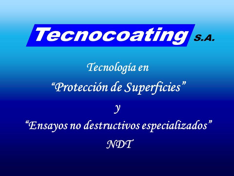 OFICINAS EN CAPITAL FEDERAL OLGA COSSETTINI 1170 - Piso 7º - Of 703 (C1107CFK) Terrazas del dique / Puerto Madero Este Ciudad Autónoma de Buenos Aires Republica Argentina Tel/Fax: 0054 – 11 – 5775-0219 e-mail: tecnocoating@tecnocoating.com.ar Web: www.tecnocoating.com.ar
