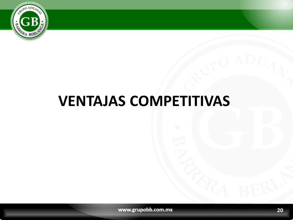 20 VENTAJAS COMPETITIVAS www.grupobb.com.mx 20