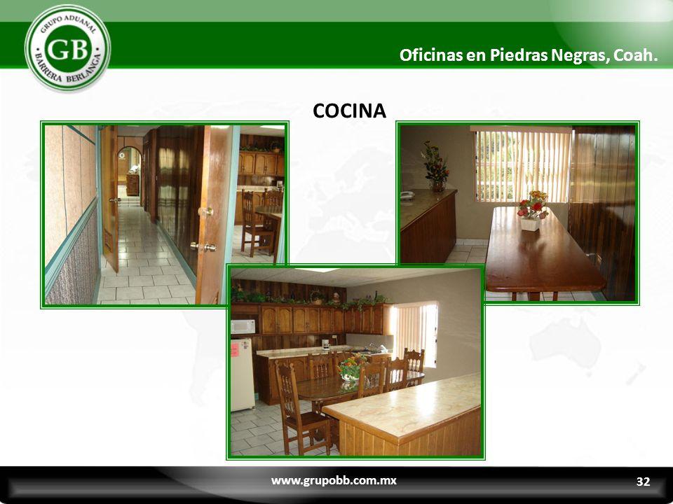 32 Oficinas en Piedras Negras, Coah. COCINA www.grupobb.com.mx 32