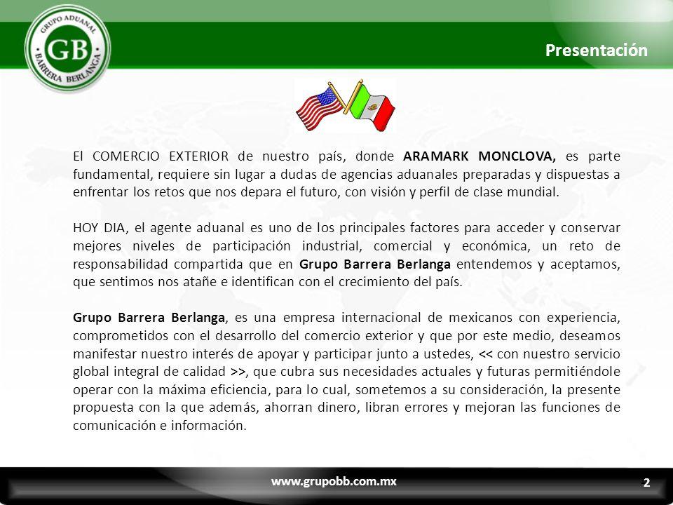 El COMERCIO EXTERIOR de nuestro país, donde ARAMARK MONCLOVA, es parte fundamental, requiere sin lugar a dudas de agencias aduanales preparadas y disp