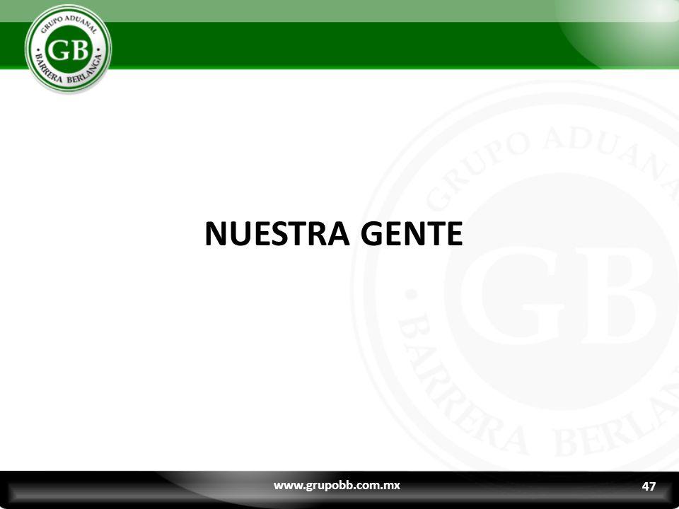 NUESTRA GENTE www.grupobb.com.mx 47