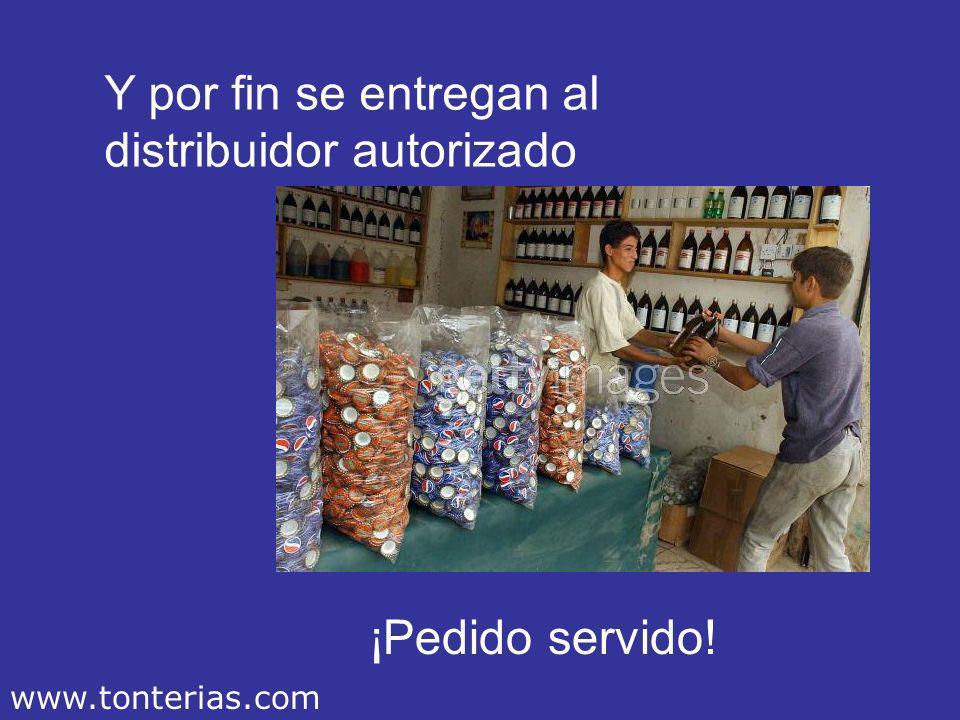 Luego pasan al departamento de envasado ¡Que no se rompa el stock! www.tonterias.com