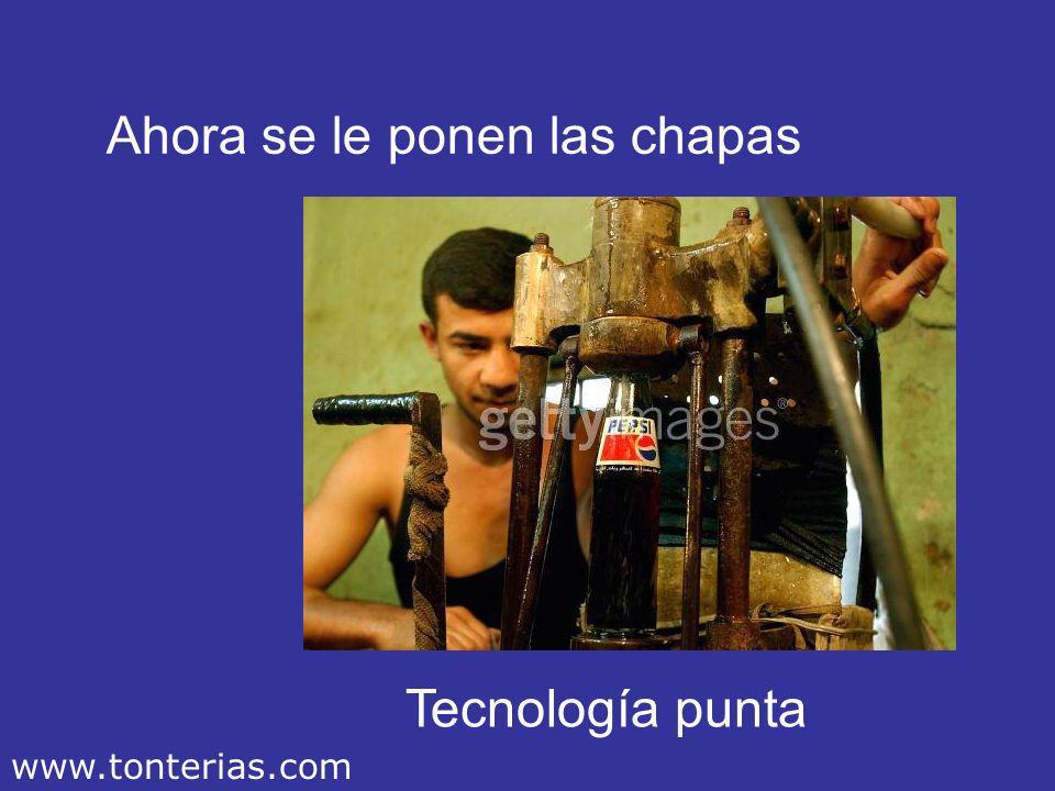 Ahora se le ponen las chapas Tecnología punta www.tonterias.com