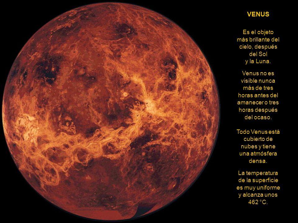 MERCURIO Sólo puede ser observado durante el ocaso o en horas diurnas. La distancia del planeta al Sol está entre 46 y 70 millones de kms. Su extrema
