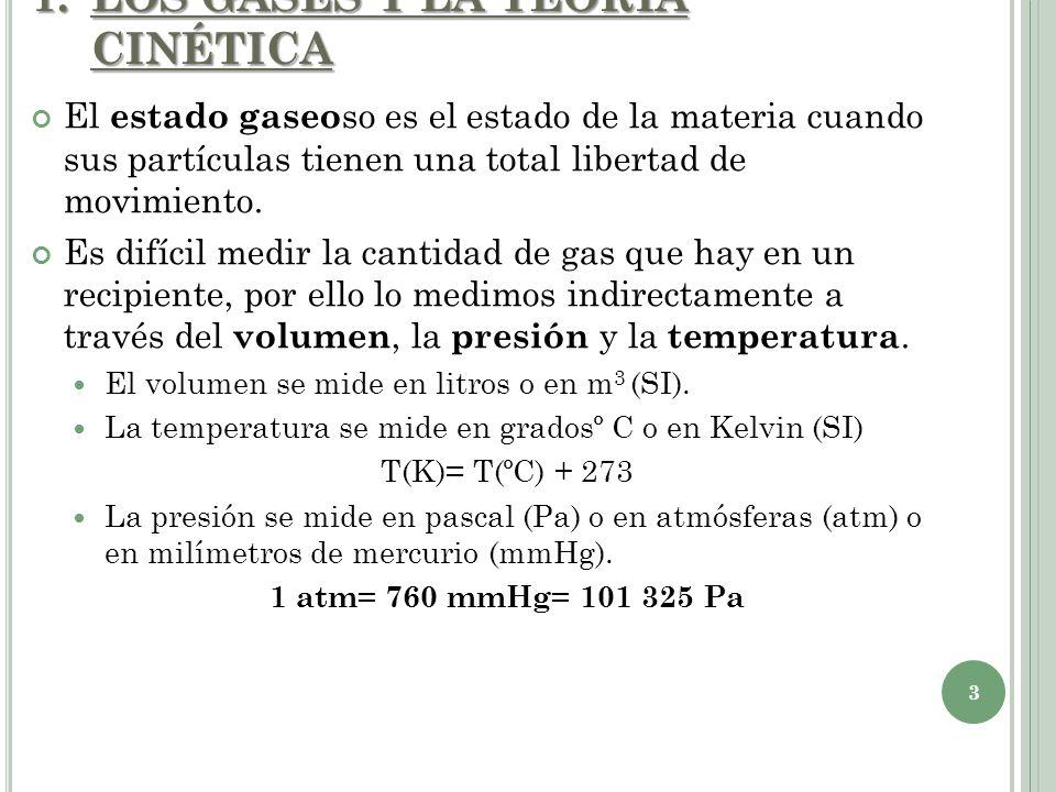 La teoría cinética para los gases: 1.