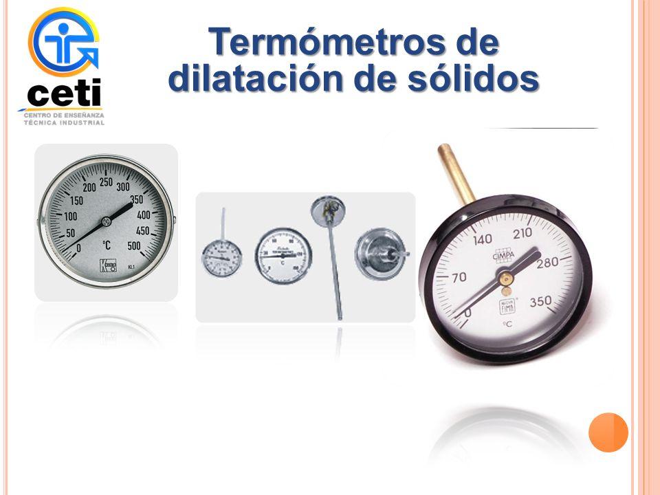 Termómetros de dilatación de sólidos