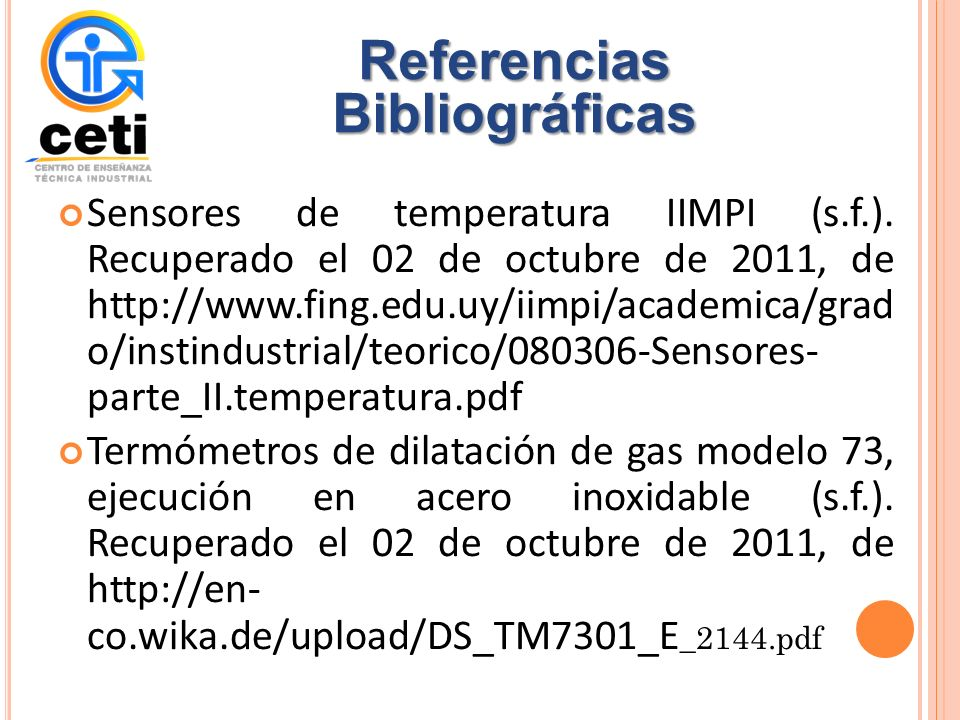 Sensores de temperatura IIMPI (s.f.).