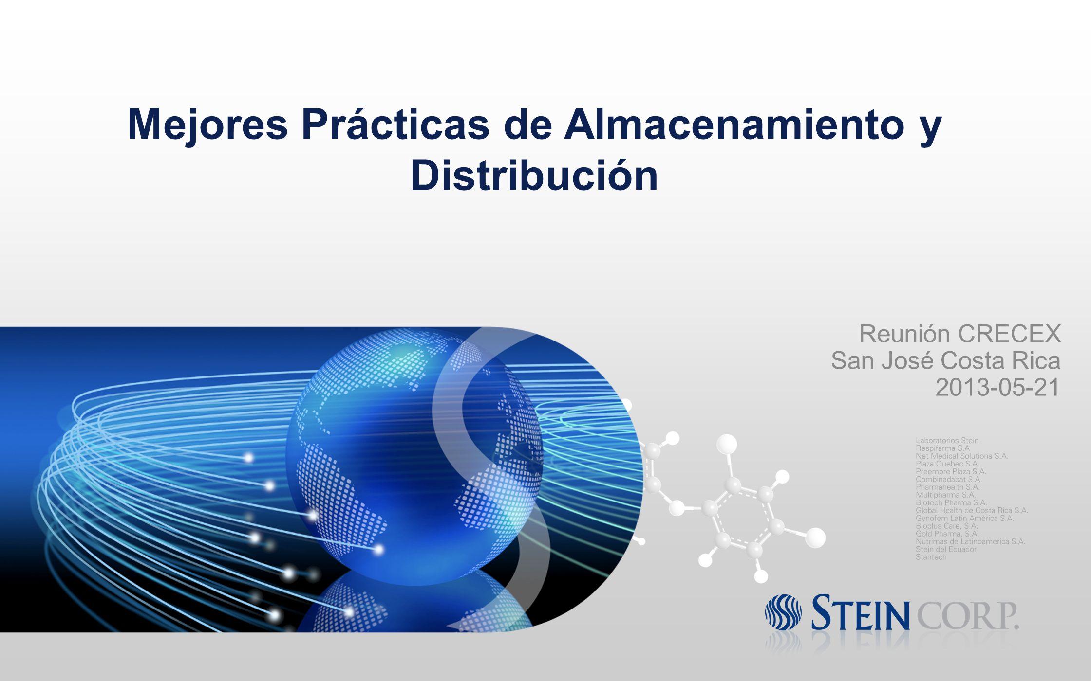 Reunión CRECEX San José Costa Rica 2013-05-21 Mejores Prácticas de Almacenamiento y Distribución