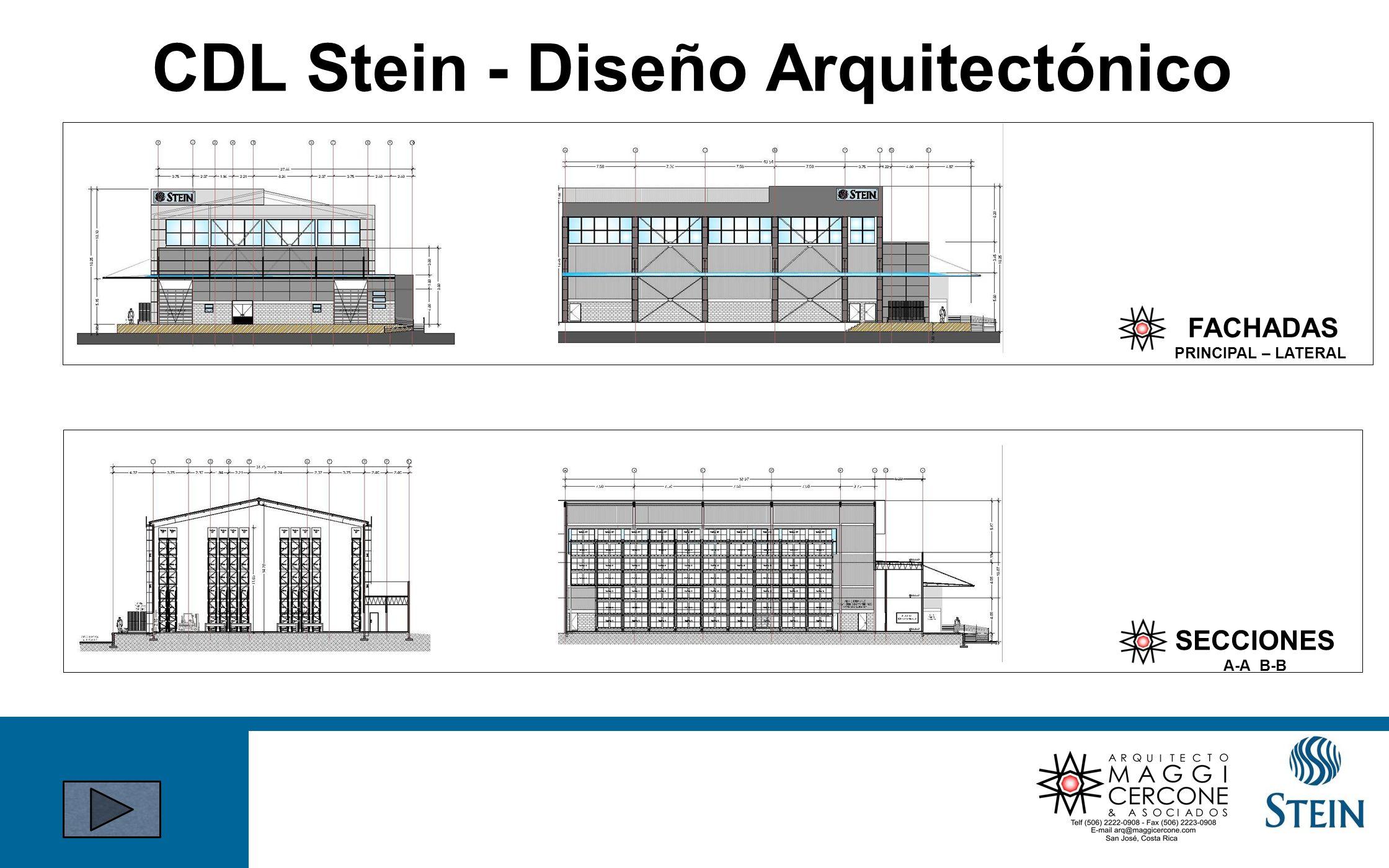 FACHADAS PRINCIPAL – LATERAL SECCIONES A-A B-B CDL Stein - Diseño Arquitectónico