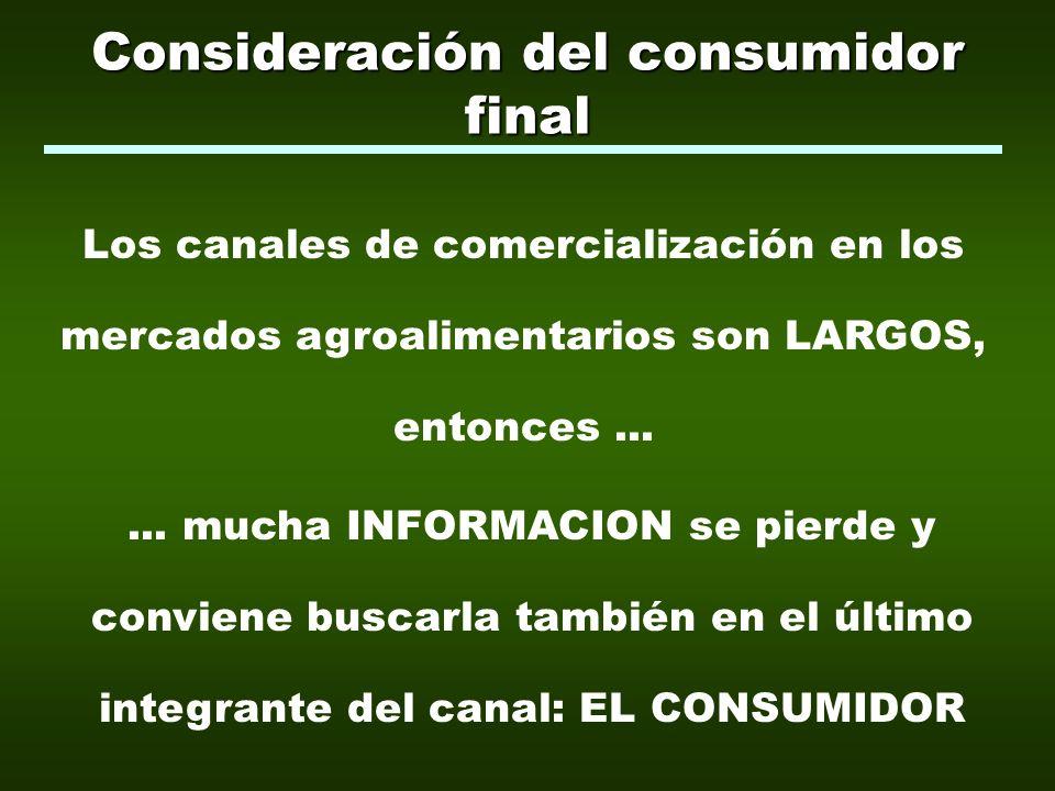Valoraciones del consumidor de alimentos VALORES EXPLICITOS Nutricionales (naturales o incorporados) Funcionales (Facilidad de uso o conservación, usos alternativos) Comerciales (Ej.
