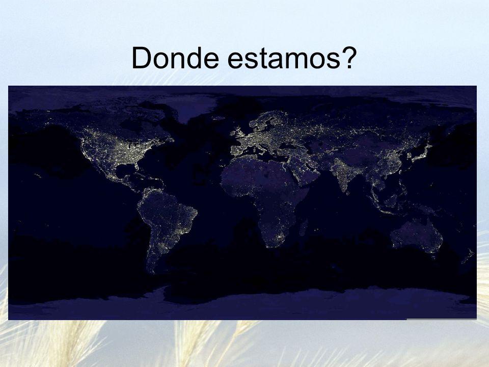 Donde estamos?