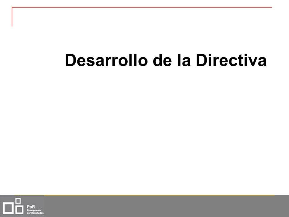 Desarrollo de la Directiva