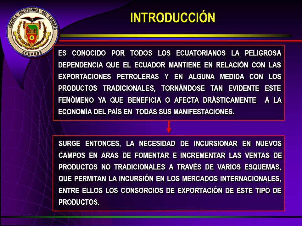 ES CONOCIDO POR TODOS LOS ECUATORIANOS LA PELIGROSA DEPENDENCIA QUE EL ECUADOR MANTIENE EN RELACIÓN CON LAS EXPORTACIONES PETROLERAS Y EN ALGUNA MEDID