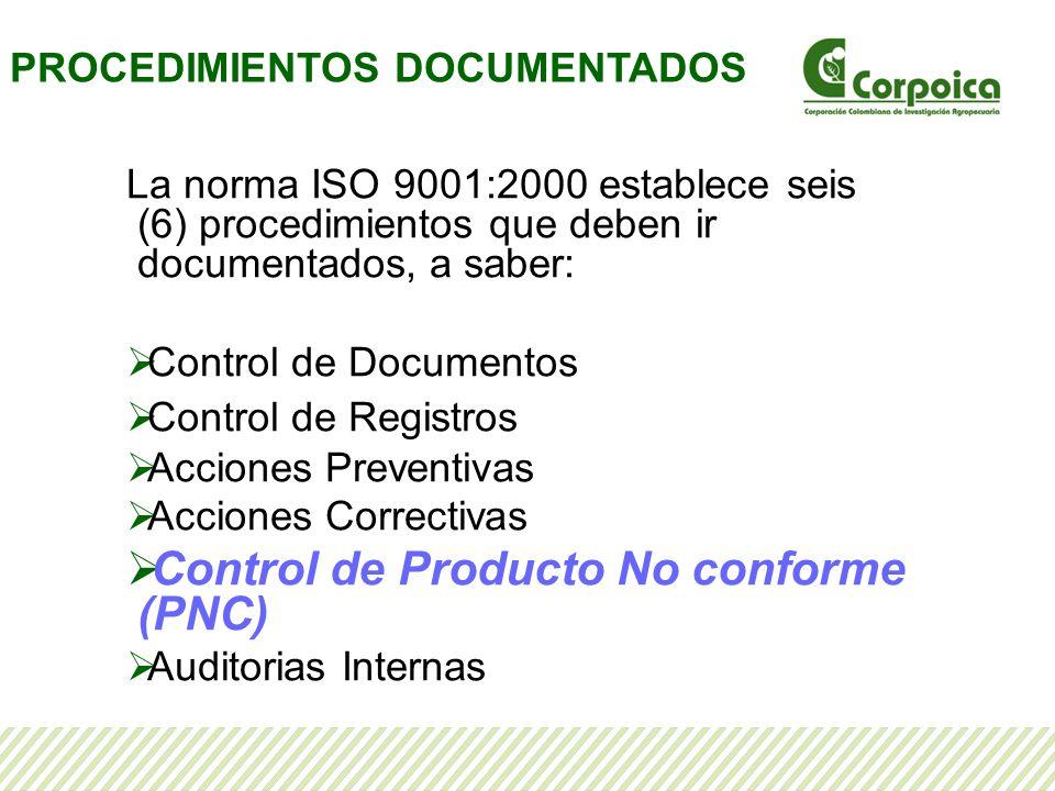 Identificar el producto no conforme Esta matriz contiene además las acciones a tomar cuando se presente una no conformidad, indica quién es el responsable de la autorización y los registros de la acción tomada.