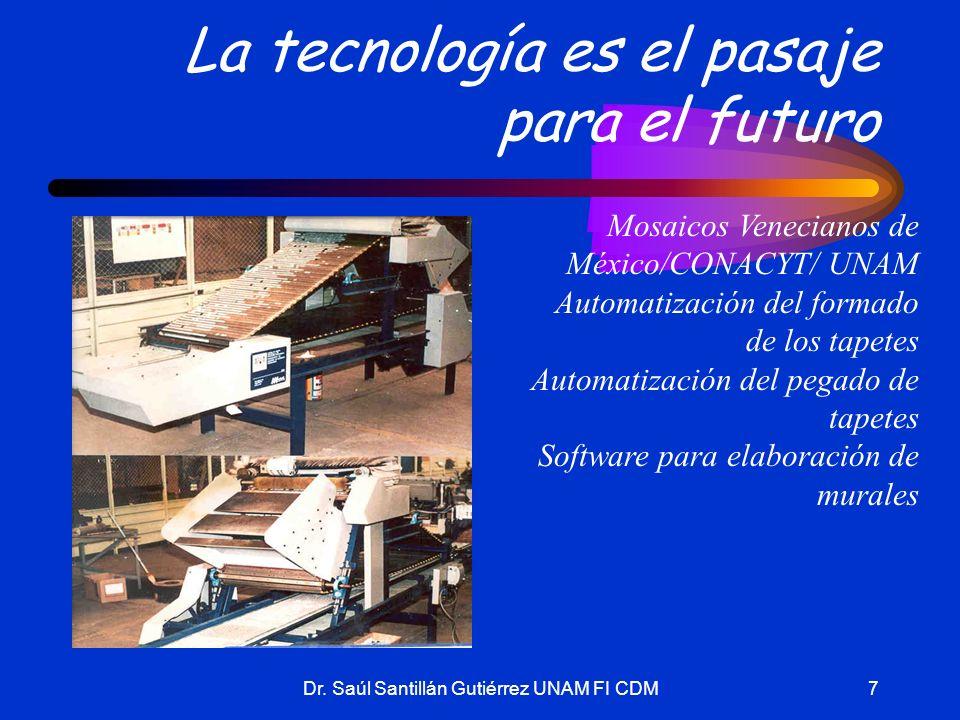 Dr. Saúl Santillán Gutiérrez UNAM FI CDM7 La tecnología es el pasaje para el futuro Mosaicos Venecianos de México/CONACYT/ UNAM Automatización del for