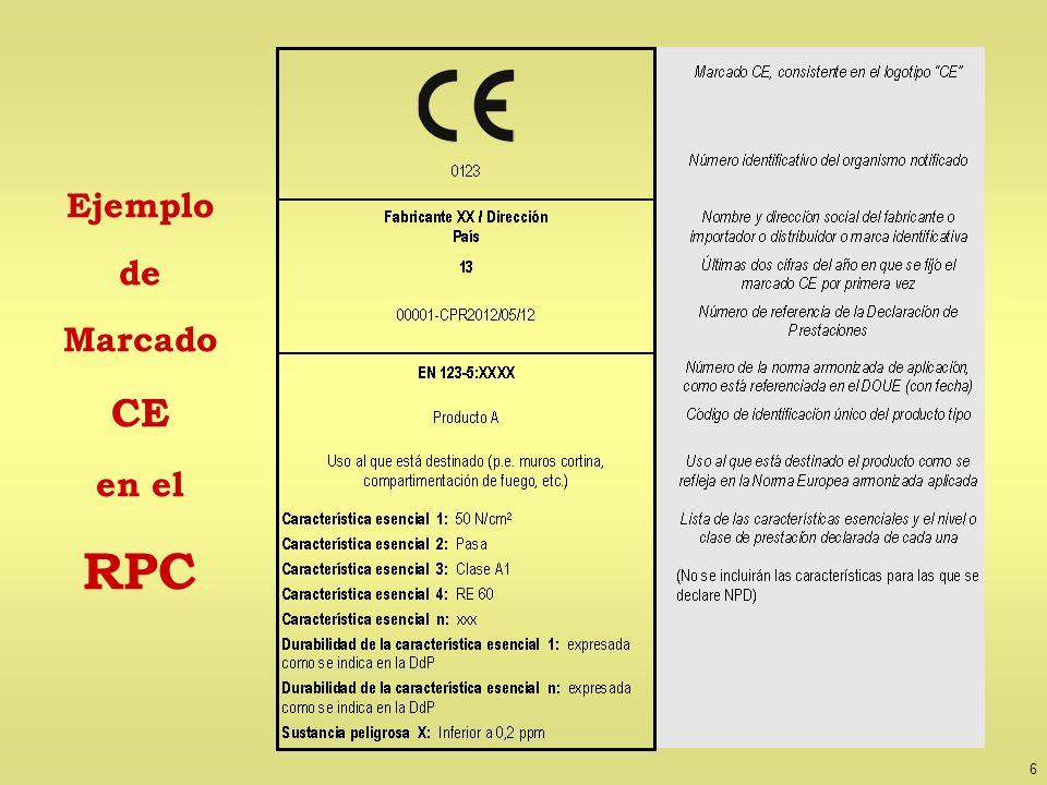 6 Ejemplo de Marcado CE en el RPC