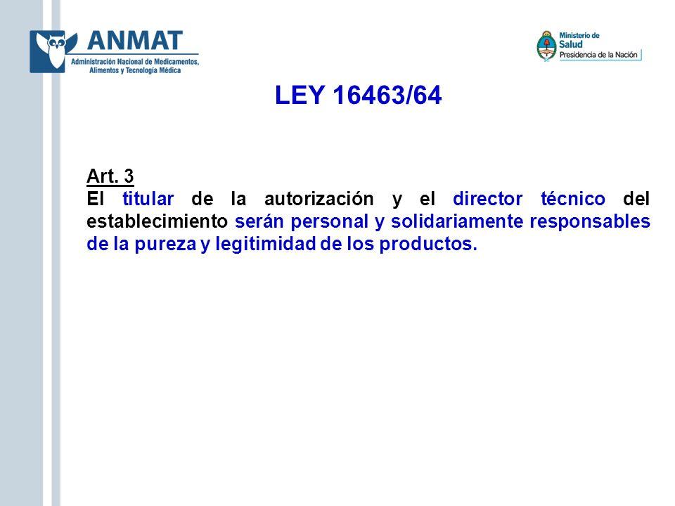 Productos Clase II, III y IV (Art.3 – Disp.