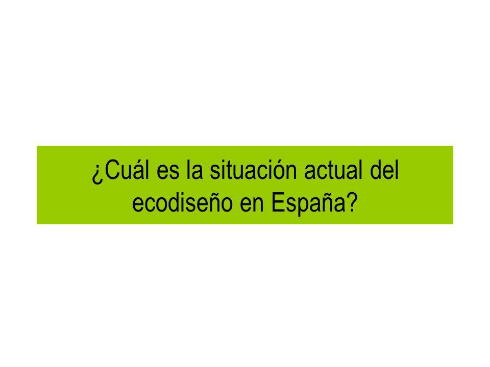 ¿Cuál es la situación actual del ecodiseño en España?