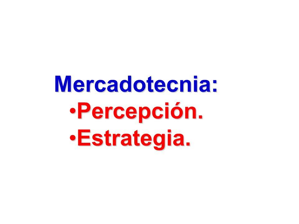 Mercadotecnia: Percepción.Percepción. Estrategia.Estrategia.