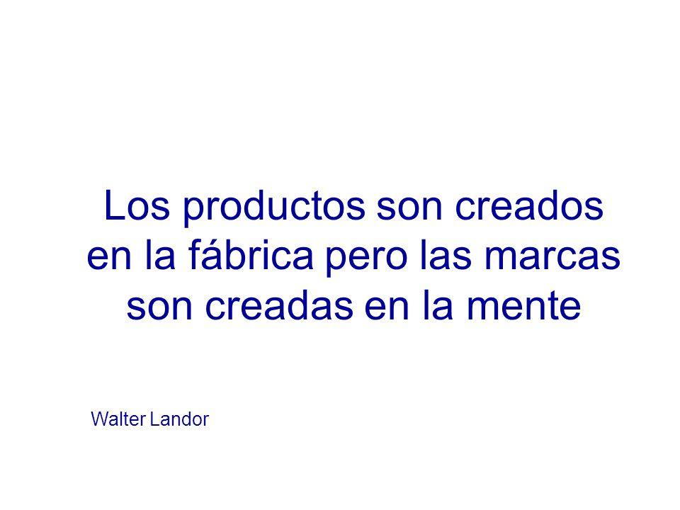 Los productos son creados en la fábrica pero las marcas son creadas en la mente Walter Landor