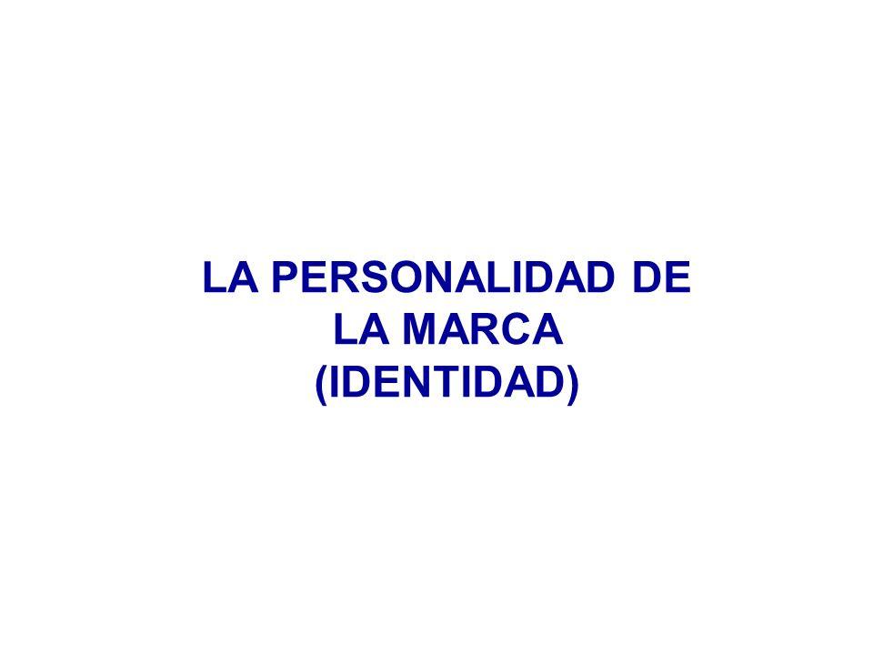 LA PERSONALIDAD DE LA MARCA (IDENTIDAD)