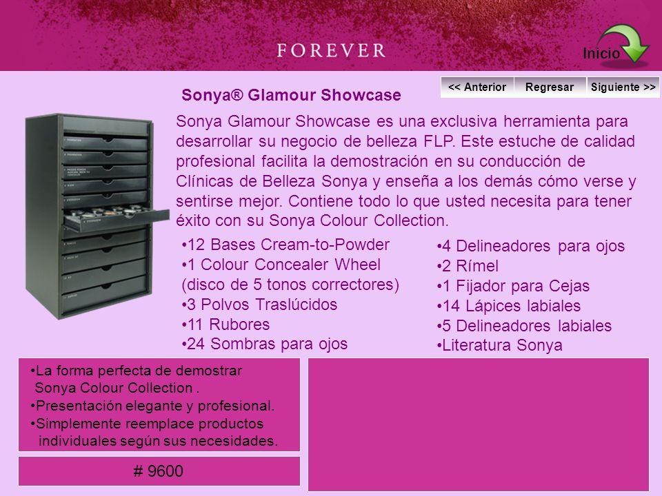 Sonya® Glamour Showcase Sonya Glamour Showcase es una exclusiva herramienta para desarrollar su negocio de belleza FLP. Este estuche de calidad profes