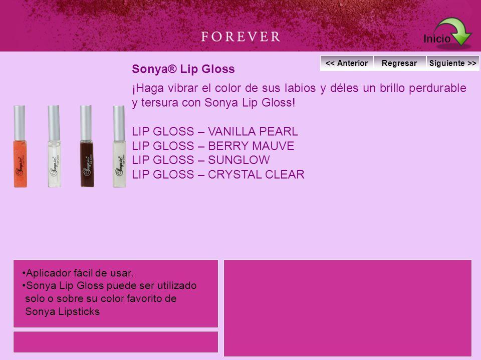 Sonya® Lip Gloss ¡Haga vibrar el color de sus labios y déles un brillo perdurable y tersura con Sonya Lip Gloss! LIP GLOSS – VANILLA PEARL LIP GLOSS –
